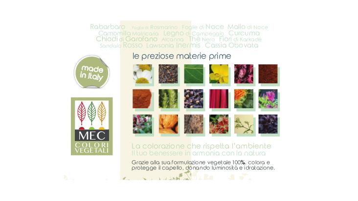 MEC srl presenta le Colorazioni per capelli 100% Vegetali